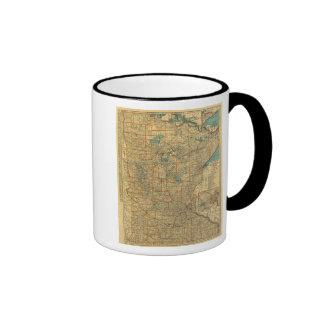 Minnesota road map coffee mug
