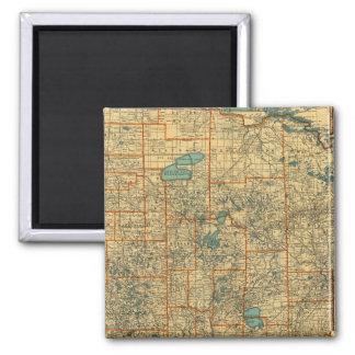 Minnesota road map magnet