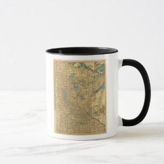 Minnesota road map mug