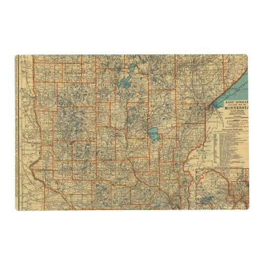Minnesota road map placemat