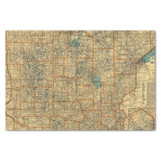 Minnesota road map tissue paper