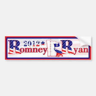 Minnesota Romney and Ryan 2012 Bumper Sticker 2
