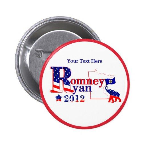 Minnesota Romney and Ryan 2012 Button  Customize