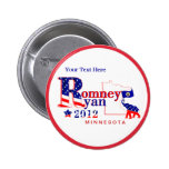 Minnesota Romney and Ryan 2012 Button  Customize 2