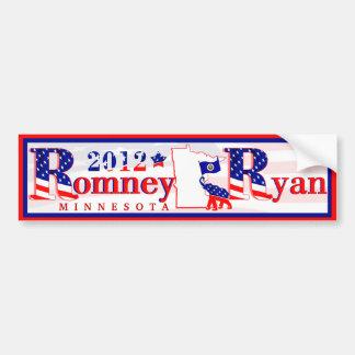 Minnesota Romney y pegatina para el parachoques 20 Pegatina De Parachoque