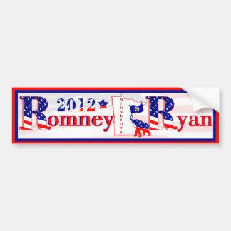 Minnesota Romney y pegatina para el parachoques 20 Pegatina Para Auto