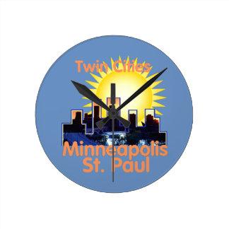 Minnesota Round Clock