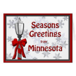 Minnesota sazona el copo de nieve de la lámpara de tarjetón