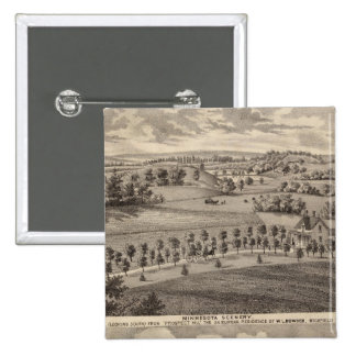 Minnesota scenery at Dead River Valley Pinback Button