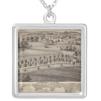 Minnesota scenery at Dead River Valley Silver Plated Necklace