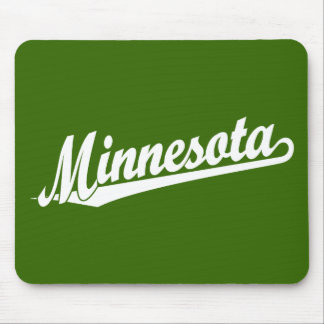 Minnesota script logo in white mouse pad