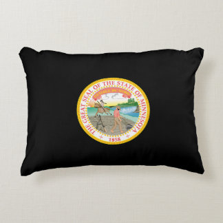 Minnesota seal, American state seal Accent Pillow