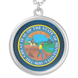 Minnesota Seal Silver Plated Necklace