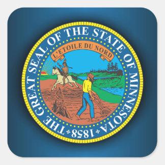Minnesota Seal Square Sticker