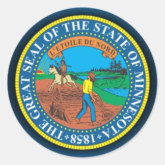 Minnesota Seal Round Sticker