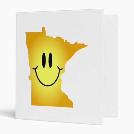 Minnesota Smiley Face 3 Ring Binder