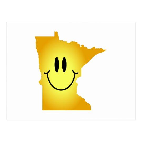 Minnesota Smiley Face Postcard