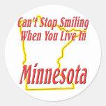 Minnesota - sonriendo etiqueta