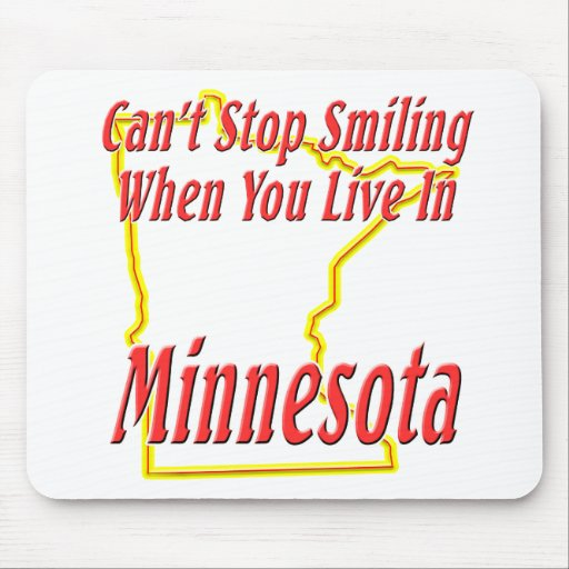 Minnesota - sonriendo tapete de ratón
