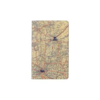 Minnesota standard map pocket moleskine notebook