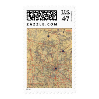 Minnesota standard map postage
