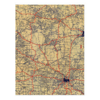 Minnesota standard map postcard