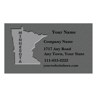 Minnesota State Business card carved stone look