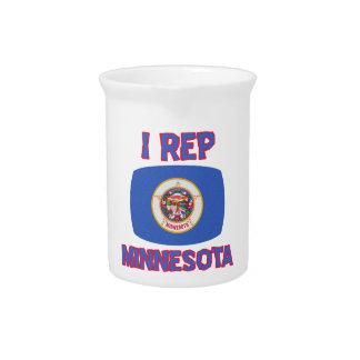 Minnesota state Designs Beverage Pitcher