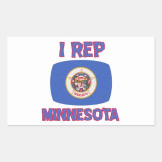 Minnesota state  Designs Rectangular Stickers