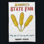 "Minnesota State Fair Food-On-A-Stick Kitchen Towel<br><div class=""desc"">Uff Da! It&#39;s state fair time and you are busy baking pies and canning pickles for competition. You will be the envy of the Arts &amp; Crafts building with this nifty Minnesota State Fair Food-On-A-Stick Kitchen Towel wrapped around your bread loaves. Ya sure,  you betcha!</div>"