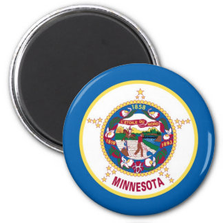 Minnesota State Flag 2 Inch Round Magnet