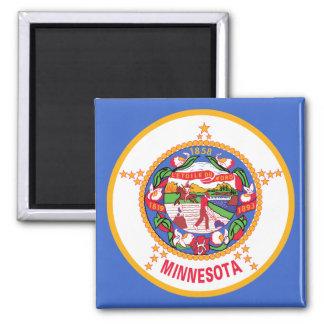 Minnesota State Flag 2 Inch Square Magnet