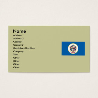 Minnesota State Flag Business Card
