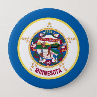 Minnesota State Flag Button