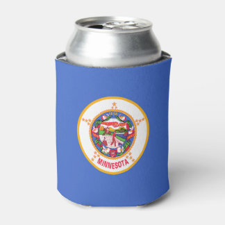 Minnesota State Flag Can Hugger Can Cooler