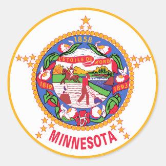 Minnesota State Flag Classic Round Sticker