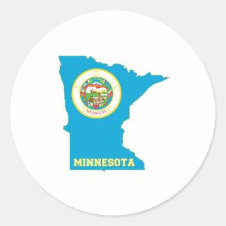 Minnesota State Flag Map Classic Round Sticker