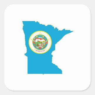 Minnesota State Flag Map Square Sticker