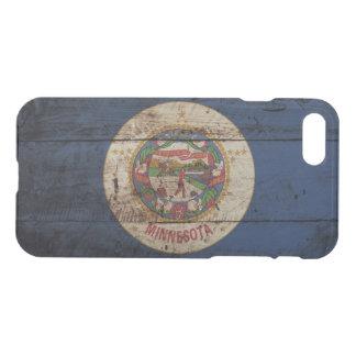 Minnesota State Flag on Old Wood Grain iPhone 8/7 Case