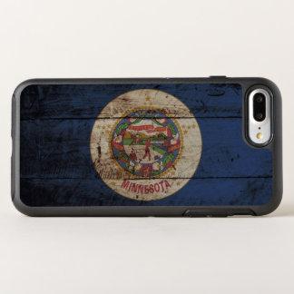 Minnesota State Flag on Old Wood Grain OtterBox Symmetry iPhone 8 Plus/7 Plus Case