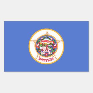 Minnesota State flag Rectangular Sticker
