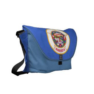 Minnesota State Flag Rickshaw Messenger Bag
