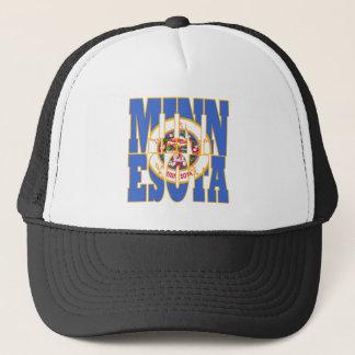 Minnesota state flag text trucker hat