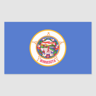 Minnesota State Flag, United States Rectangle Stickers
