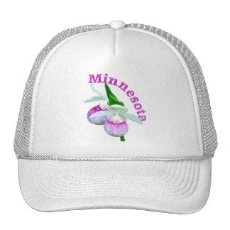 Minnesota state flower trucker hat