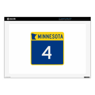 "Minnesota State Highway 4 Decal For 17"" Laptop"