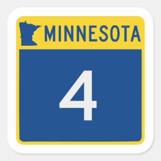 Minnesota State Highway 4 Square Sticker