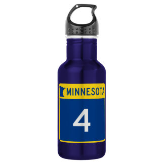 Minnesota State Highway 4 Stainless Steel Water Bottle