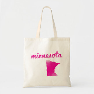 Minnesota state in pink tote bag