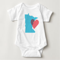 Minnesota State Love Baby Shirt